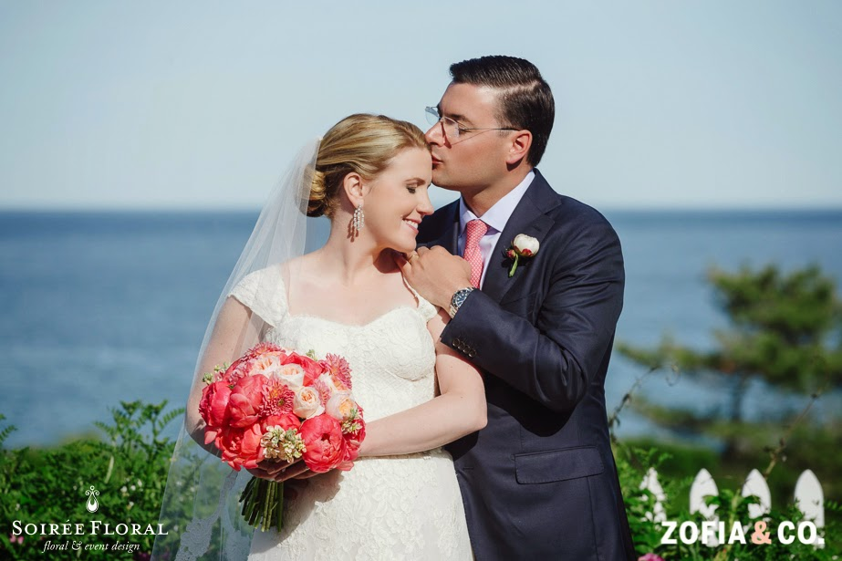 Sneak Peek – Coral, Navy & Peach Wedding at the 'Sconset Casino