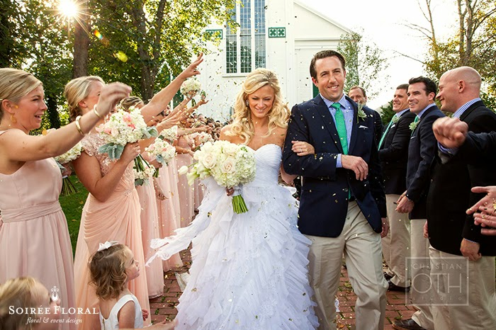 Luxe Glam Gold and Blush Nantucket Wedding Featured on CeciStyle