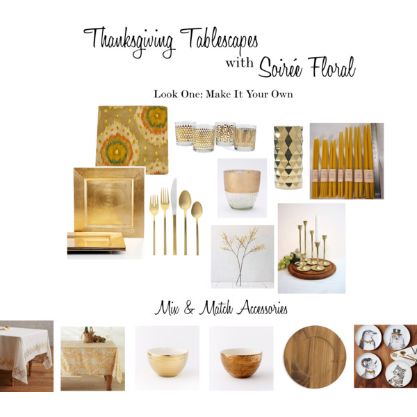 Thanksgiving Tablescapes with Soirée Floral - Look One