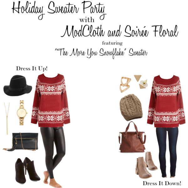 Holiday Sweater Party with ModCloth & Soirée Floral