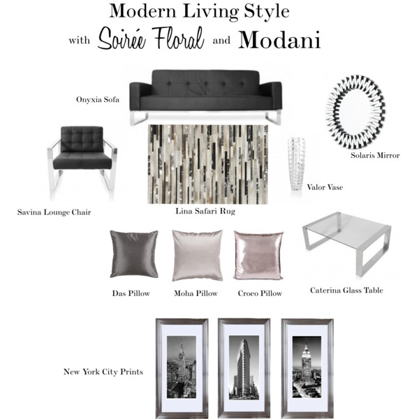 Modern Living Style with Soirée Floral and Modani Furniture