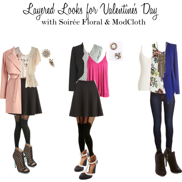 How to Wear a Layered Look for Valentine's Day with Soirée Floral & Mod Cloth