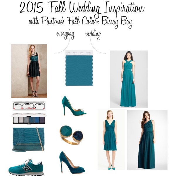 2015 Fall Wedding Inspiration with Pantone's Fall Color: Biscay Bay