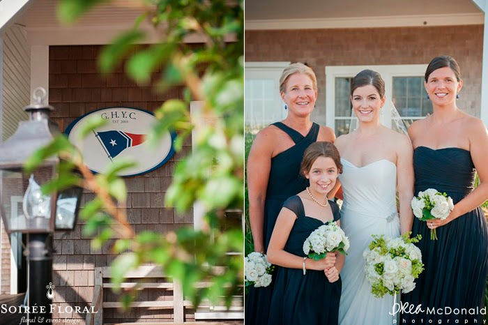 Throw Back Thursday – A Navy, White and Green Nantucket Wedding at Great Harbor Yacht Club with Brea McDonald Photography