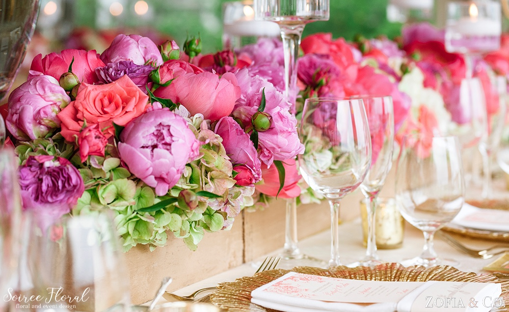 Coral Pink and White Nantucket Wedding Soiree Floral Zofia Photo 11