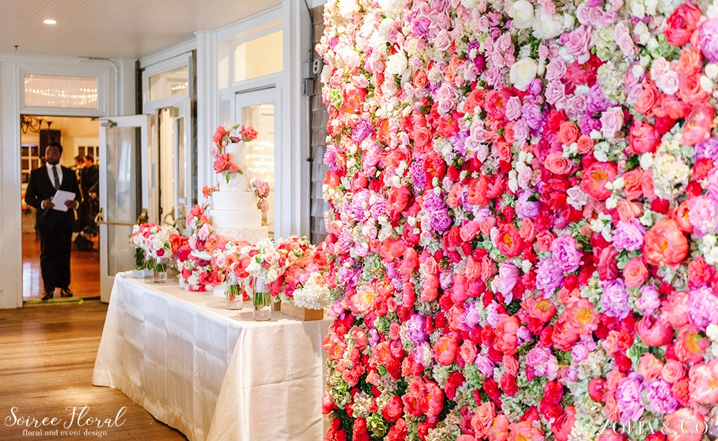 Coral Pink and White Nantucket Wedding Soiree Floral Zofia Photo 12