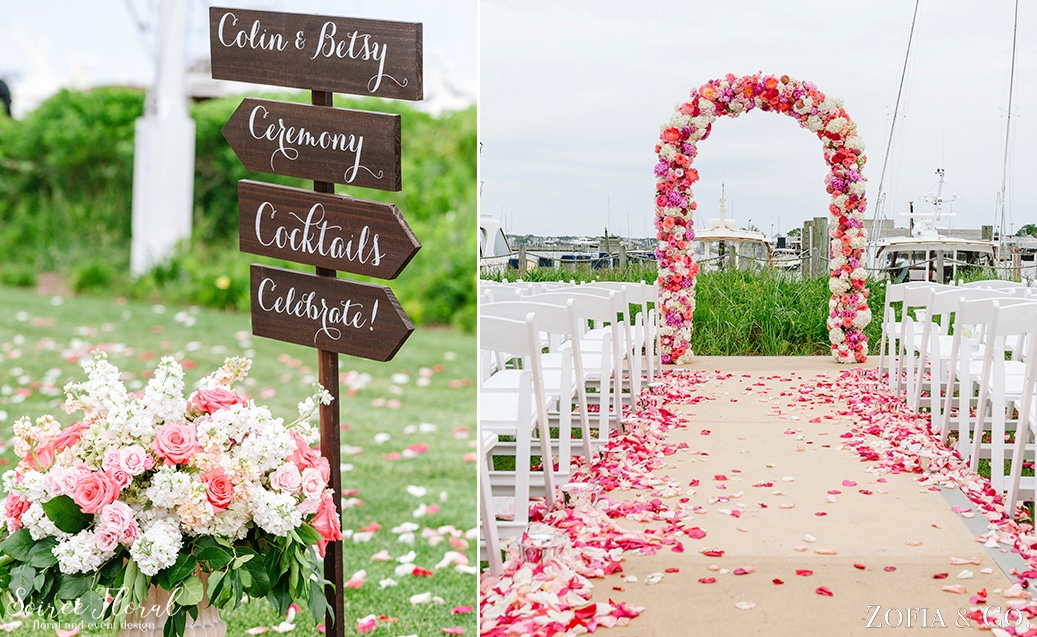 Coral Pink and White Nantucket Wedding Soiree Floral Zofia Photo 1