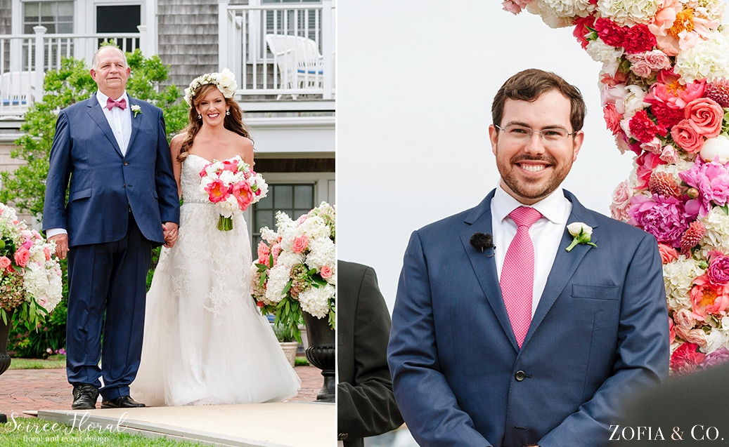 Coral Pink and White Nantucket Wedding Soiree Floral Zofia Photo 3
