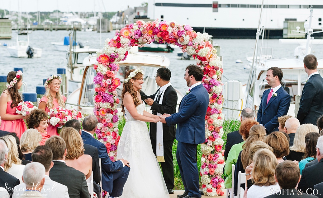 Coral Pink and White Nantucket Wedding Soiree Floral Zofia Photo 4