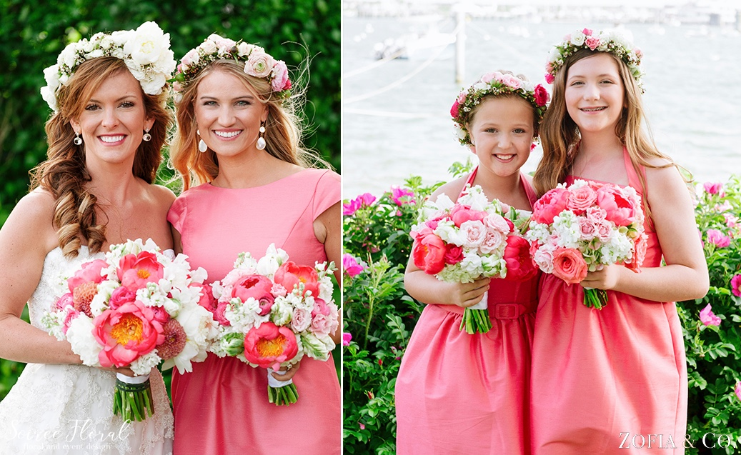 Coral Pink and White Nantucket Wedding Soiree Floral Zofia Photo 6