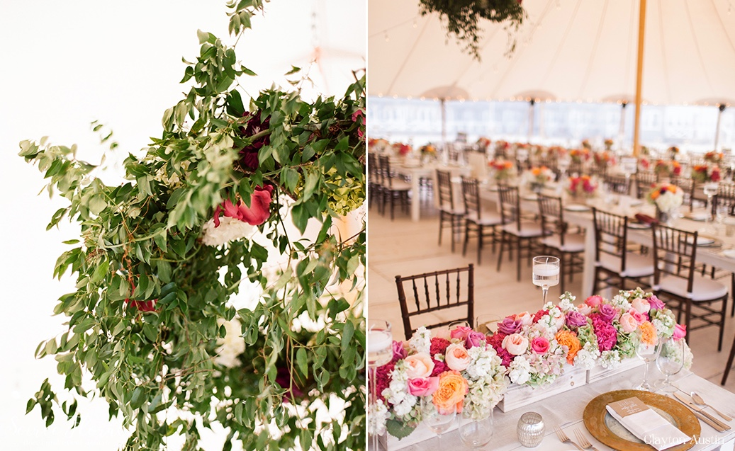 Floral Hoops Soiree Floral Nantucket Tented Wedding Galley Beach Clayton Austin9