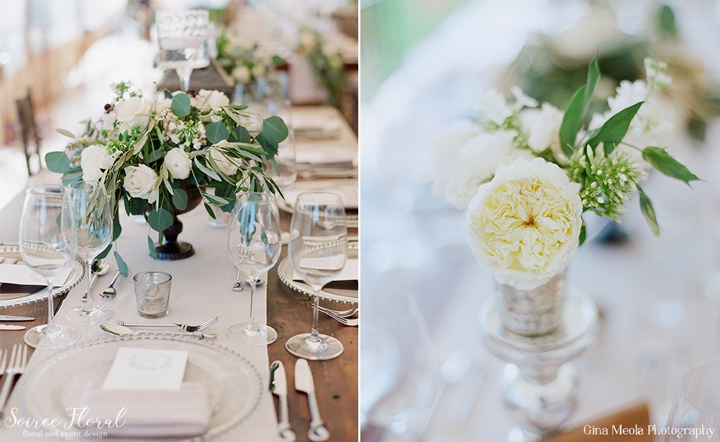 Green and White Centerpiece Soiree Floral Nantucket 12