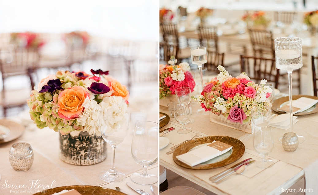 Late Summer Blooms at a Nantucket Tented Wedding Clayton Austin Soiree Floral