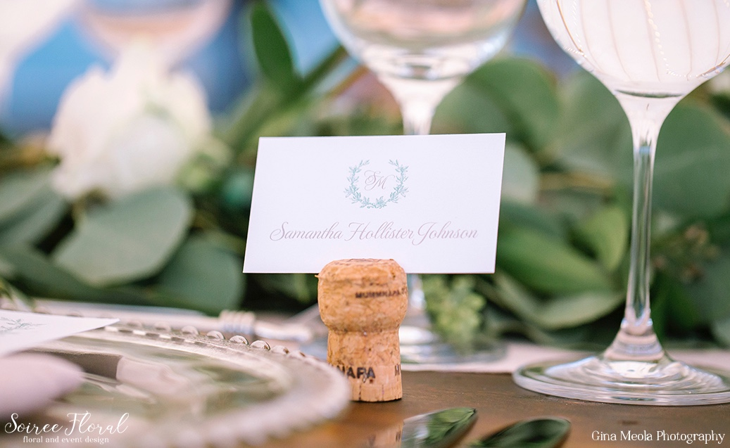 Laurel Monogram Wedding Place Card Dawn Kelly Designs Nantucket 16
