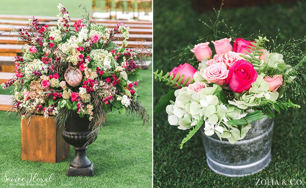 Lush Ceremony Urn with Protea Soiree Floral Nantucket 5