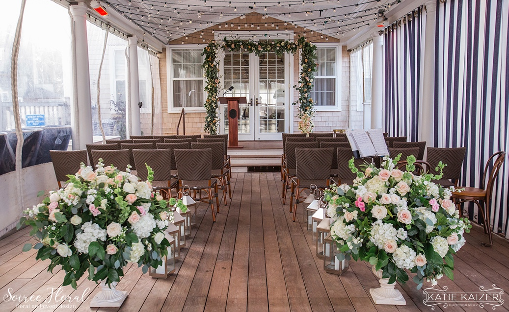 Nantucket Hotel Wedding Ceremony Soiree Floral Katie Kaizer