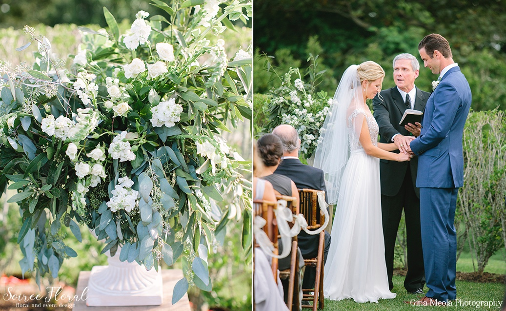 Organic Green and White Wedding Ceremony Nantucket Soiree Floral 6