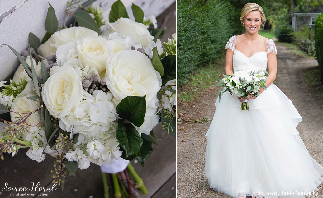 Green and White Nantucket Wedding Soiree Floral 1