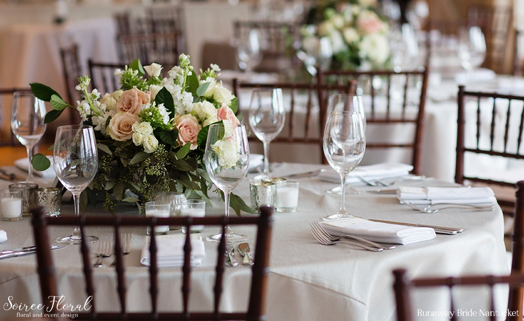Green and White Nantucket Wedding Soiree Floral 3