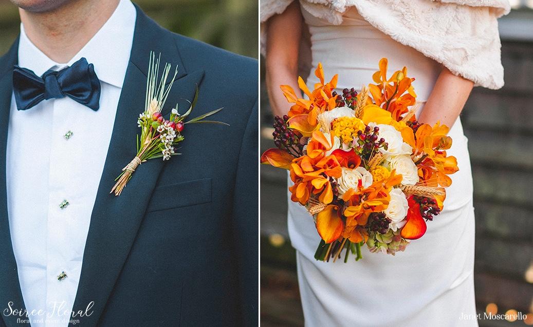 Virbrant Fall Wedding on Nantucket Soiree Floral 1