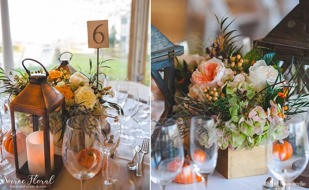 Virbrant Fall Wedding on Nantucket Soiree Floral 3