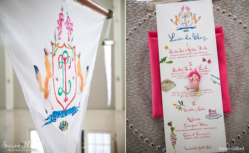 Custom Wedding Crest and Pennant Flags – Nantucket Wedding