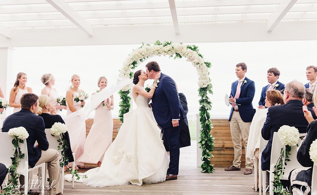 Blush Blue and Green Nantucket Wedding5