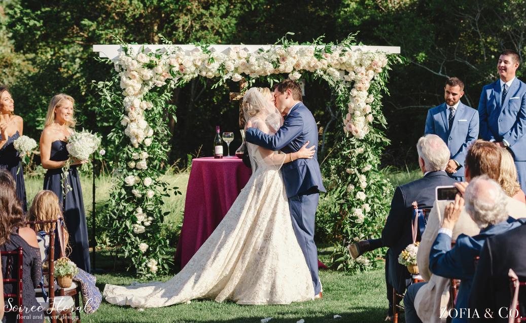 Garden Arch Nantucket Outdoor Wedding