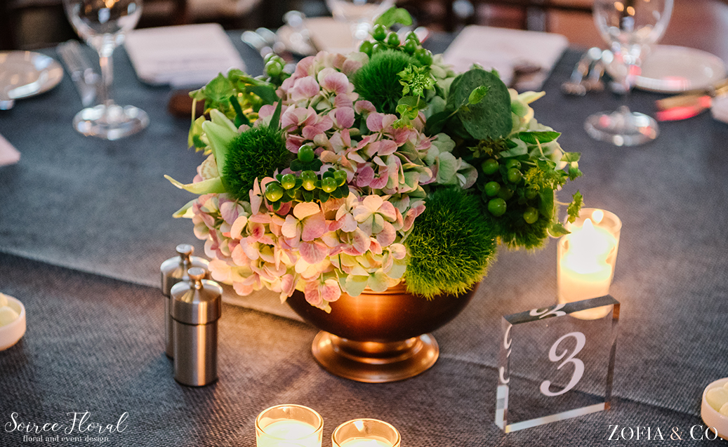 All Green Floral Centerpiece