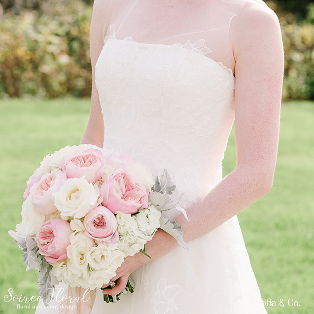 Blush and White Bridal Bouquet – Nantucket