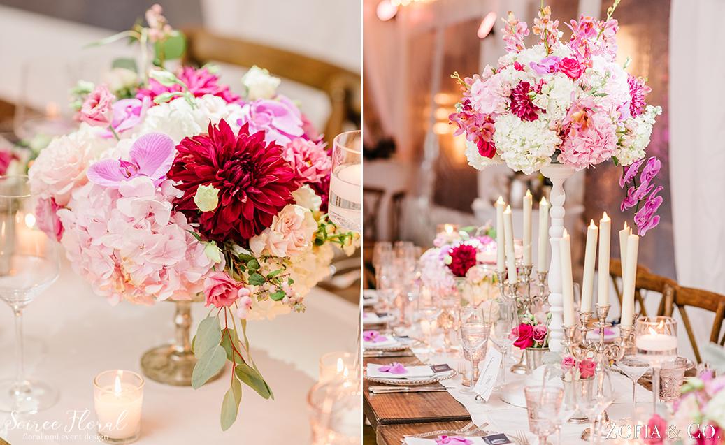 Burgundy and Blush Wedding Flowers – Nantucket Golf Club Wedding