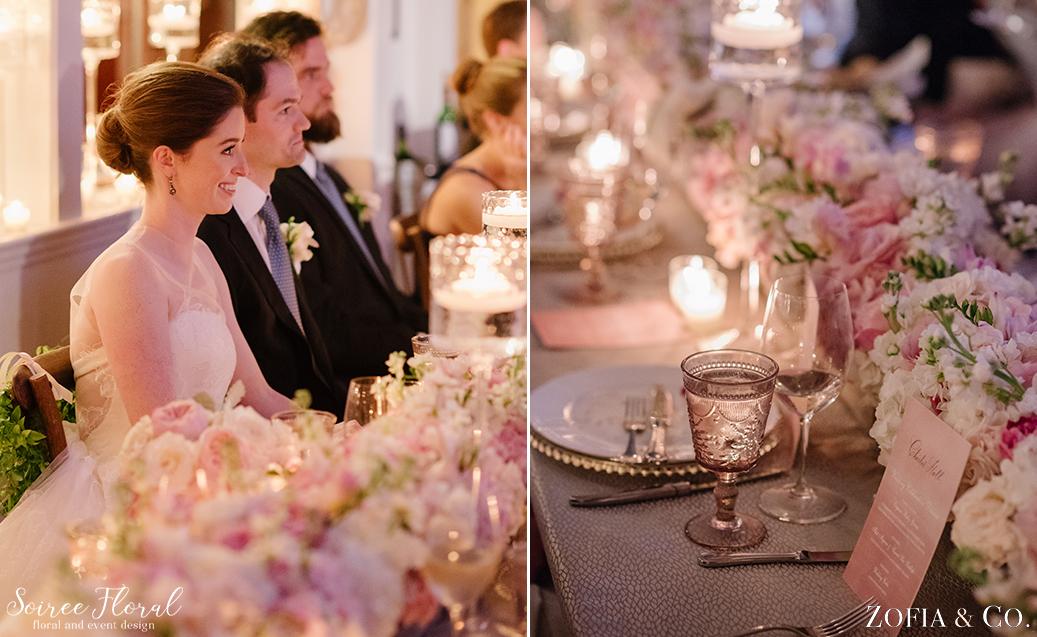 Head Table – Nantucket Yacht Club Candlelight Wedding
