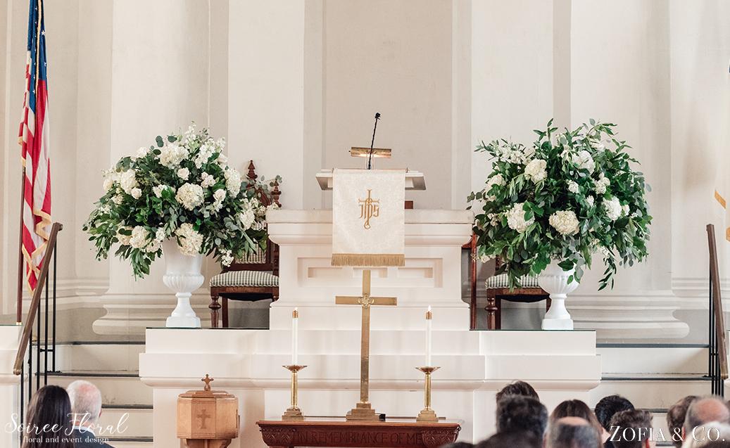 Nantucket Church Wedding Urns