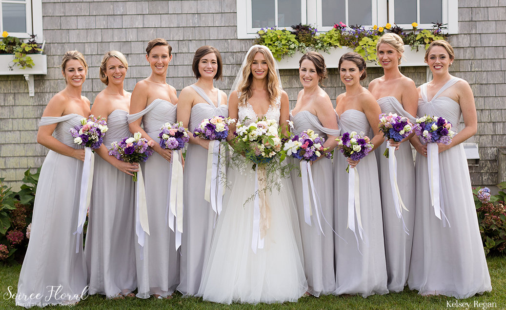 Nantucket Wedding Bridal Party Bouquets