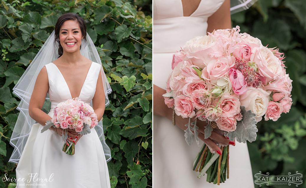 Pink Bridal Bouquet – Nantucket Florist