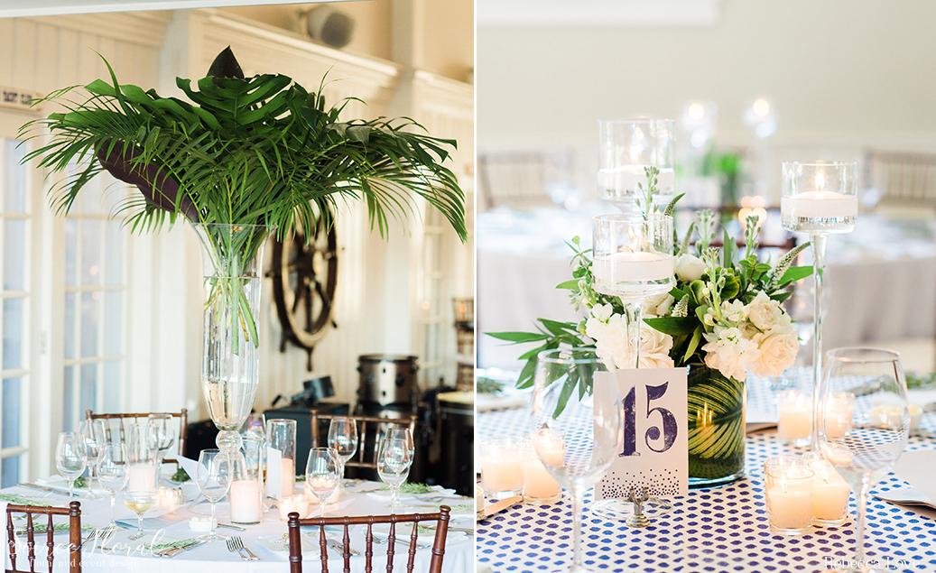 Tropical Wedding Nantucket Yacht Club