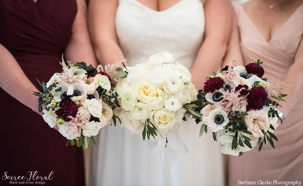 Burgundy and Blush Bouquets – Soiree Floral