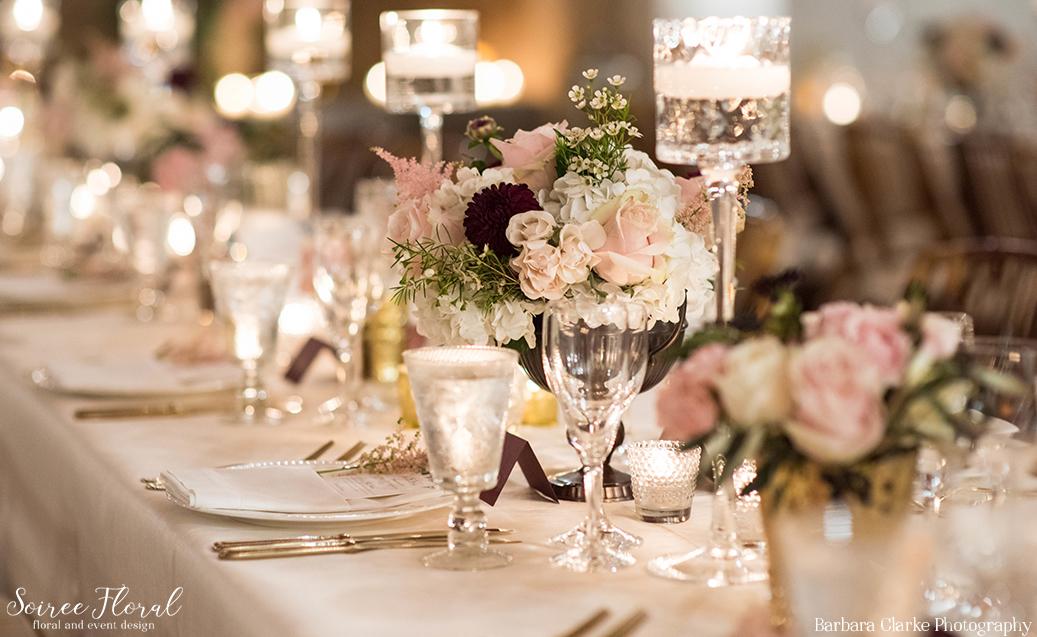 Burgundy and Blush Wedding Flowers – Soiree Floral