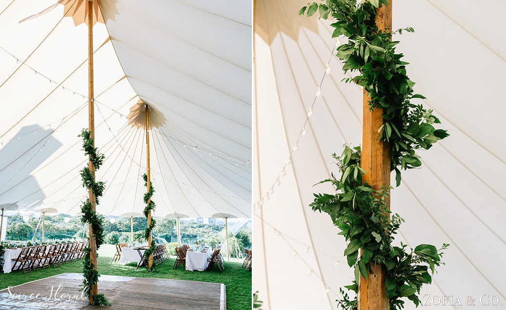 Nantucket Wedding – Tent Greenery – Soiree Floral