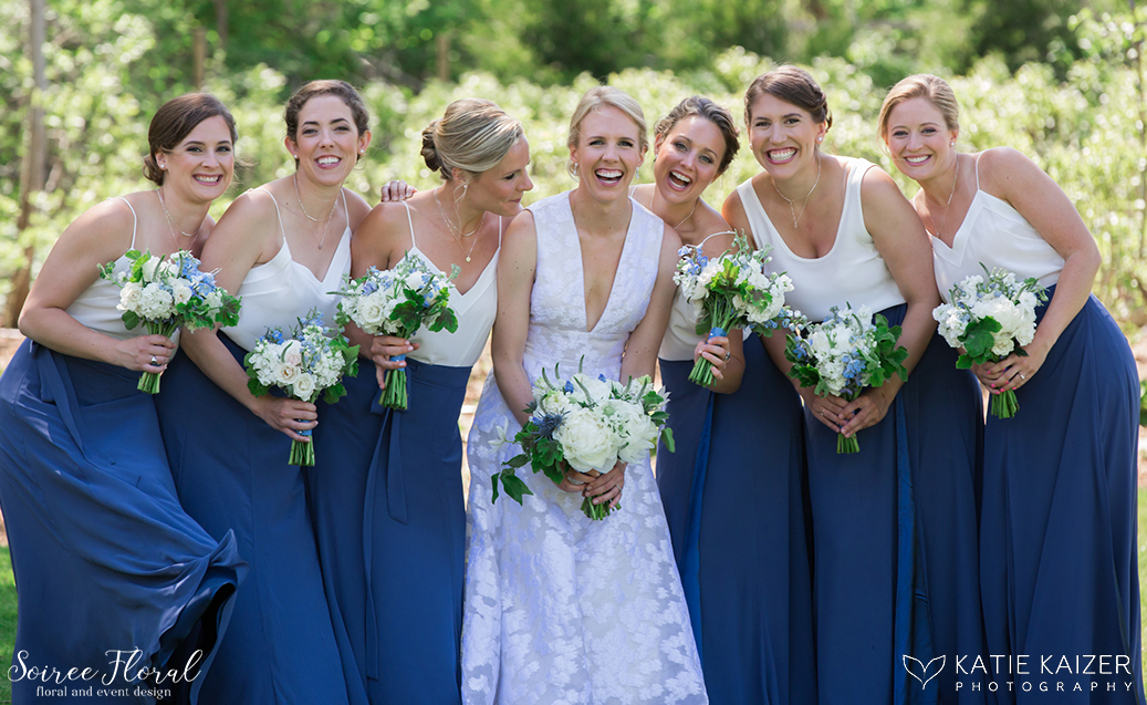 Blue and White Nantucket Bridesmaids1