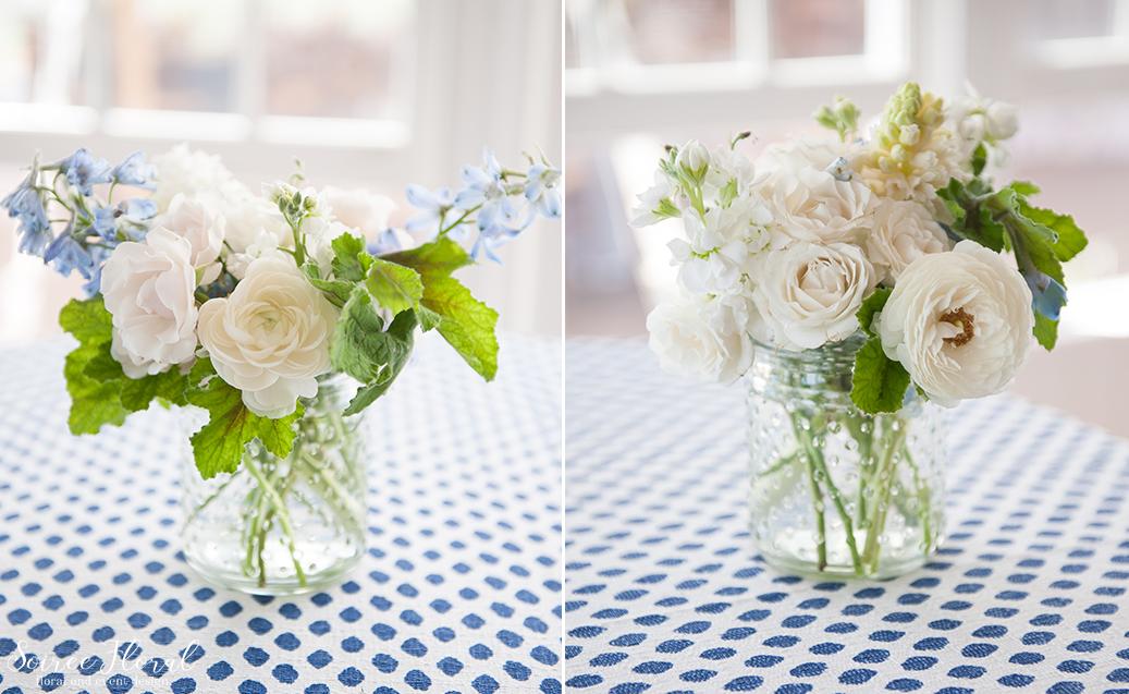 Cocktail table Floral Design – Ranunculus Roses