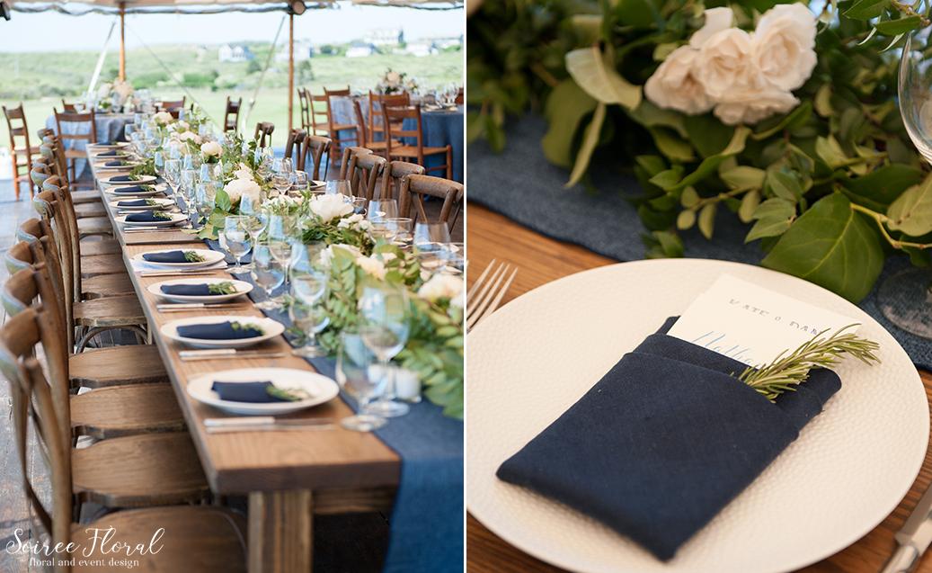 Farm Table Wedding Decor – Nantucket Wedding
