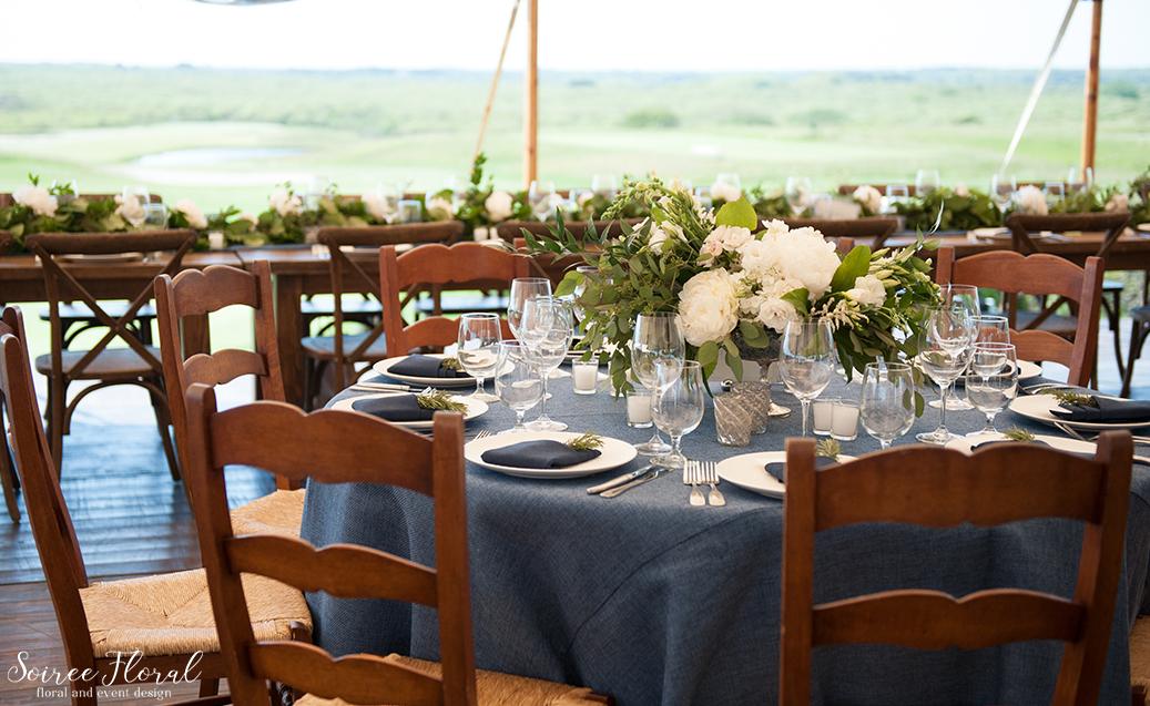 Peony Compote Nantucket Wedding Centerpiece Sankaty Golf