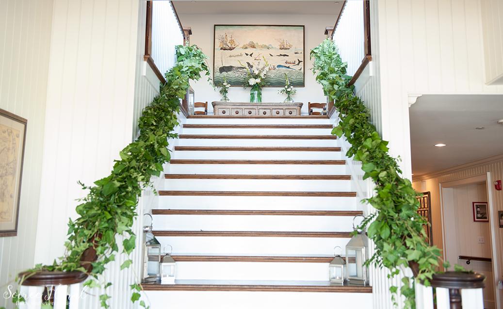 Sankaty Golf Club Wedding Stair Garland