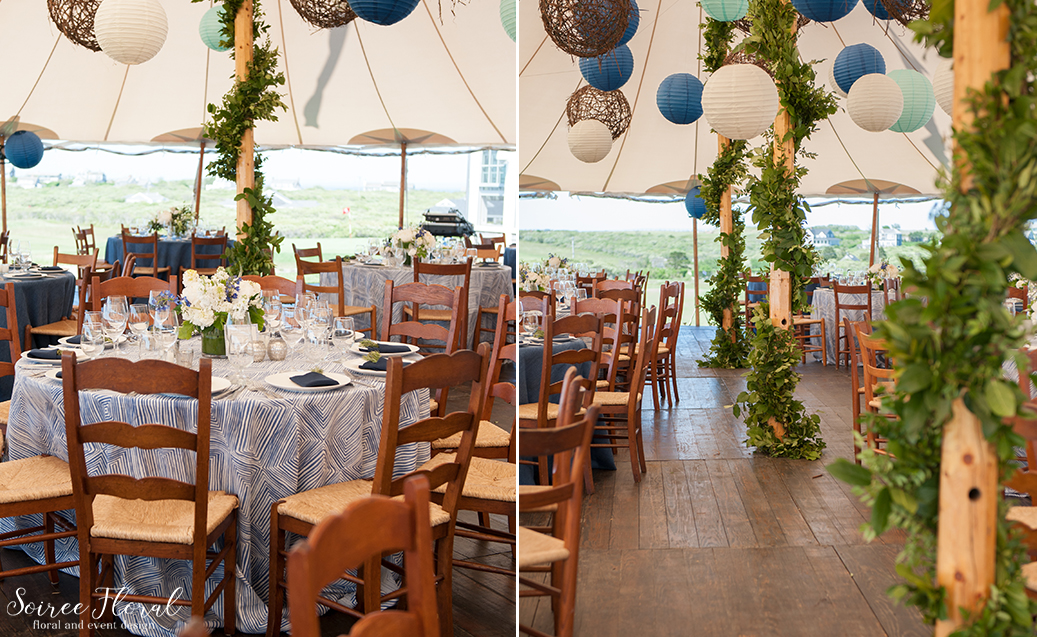 Tent Pole Garlands – Soiree Floral