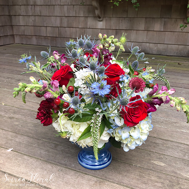 Red White Blue Summer Flower Delivery