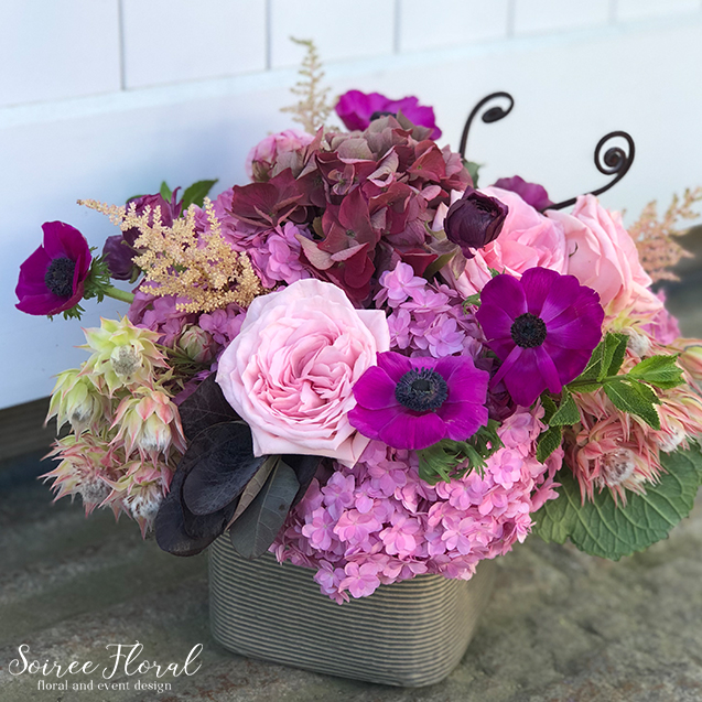 Bright and Cheerful Flower Delivery – Pink Hydrangea – Nantucket Florist