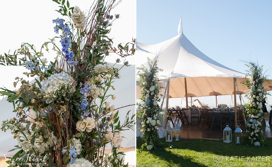Blue and White Wedding at Wauwinet – Nantucket – Soiree Floral 13