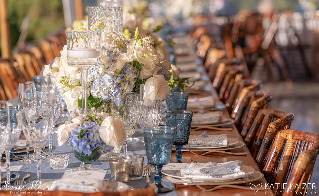Blue and White Wedding at Wauwinet – Nantucket – Soiree Floral 17