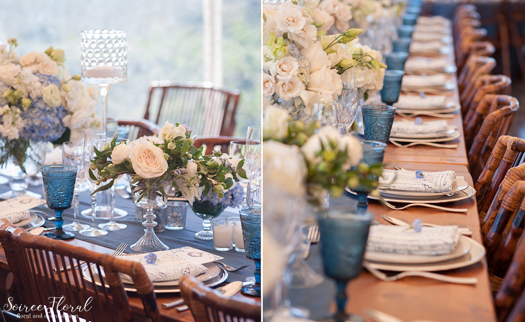 Blue and White Wedding at Wauwinet – Nantucket – Soiree Floral 22